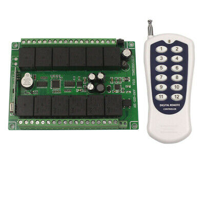 DC 12V 12 CH Channel Wireless Remote Control ON/OFF Switch Transmitter+Receiver