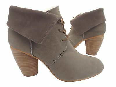 f8823f66bd9 NEW EMU Australia Rose Malee Sand Suede Leather Boots Women US 8.5 EUR 40  W11137