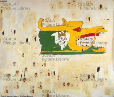 """Jean Michel Basquiat """"Dragon"""" Oil Painting on Canvas Large Wall Picture 30x40"""""""