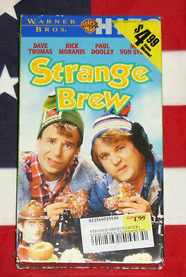 NEW Strange Brew (VHS, 1983) Rick Moranis, Dave Thomas, Cult Comedy Video NEW