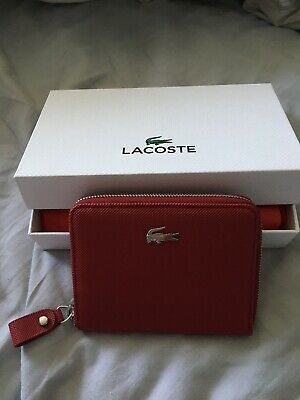 85dcaa8504 NEW AUTHENTIC VINTAGE LACOSTE Ladies Girls COIN PURSE Classic 4 Red ...