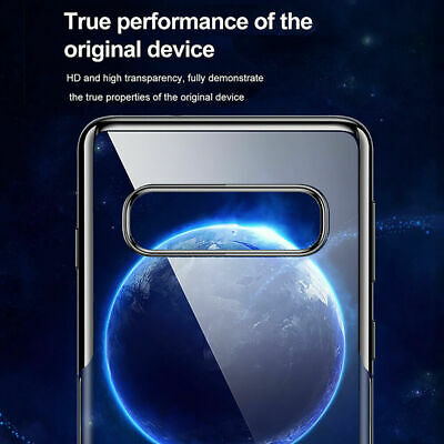 Baseus For Samsung Galaxy S10 S10+ Plus Ultra Slim Plating TPU Back Case Cover