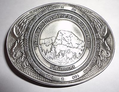 Philmont Scout Ranch Screaming Eagle Pewter Belt Buckle - Boy Scouts of America