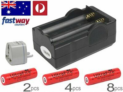 UltraFire Rechargeable 18650 Battery Charger 5300mAh with 3.7v Li-ion 2-8  VA-R
