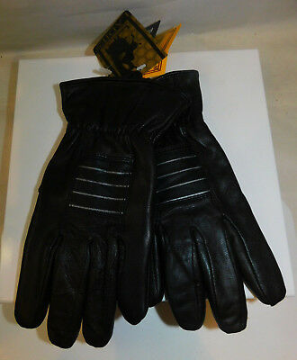 NWT Jacob Ash Ladies L Black Genuine Leather Lined Winter Gloves  40g Thinsulate