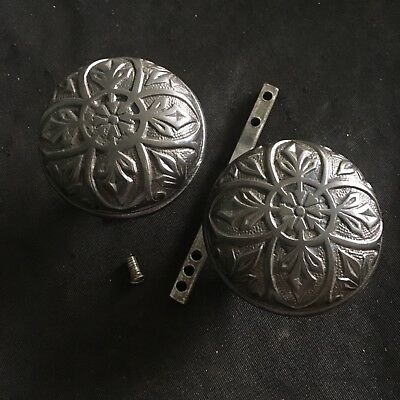 Antique Norwalk Pair Of Solid CAST IRON DOOR KNOBS Victorian
