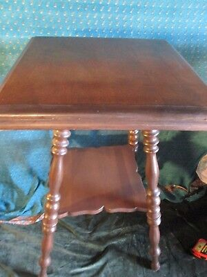 Antique turned  Spindle Leg Victorian solid Wood Table PLANT STAND