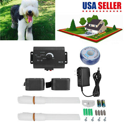 Underground Electric Dog Fence System Waterproof Shock Collars For 1-2Dogs