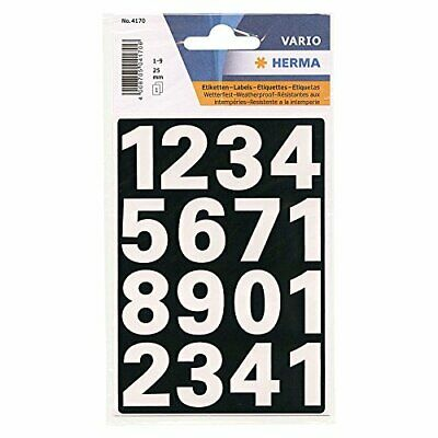 Herma 4170 Numbers 09 Weather MM 25 Sheets White