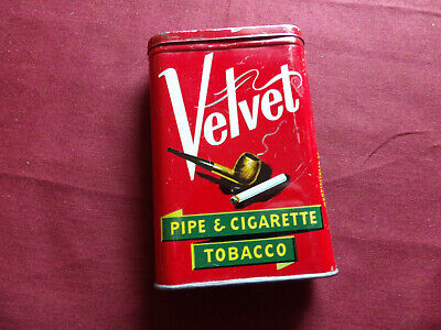 VELVET PIPE & CIGARETTE TOBACCO Blechdose leer Made in U.S.A.
