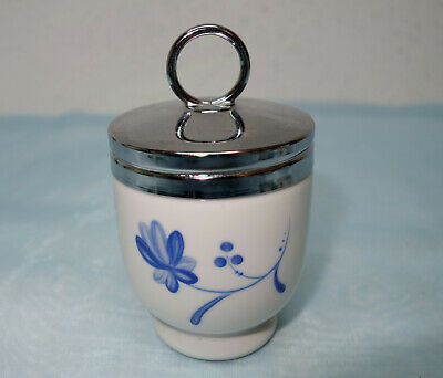 Royal Worcester Egg Coddler   aus Porzellan, blaue Blumen,  Made in England