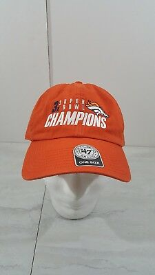 306dfc4d468155 47 BRAND DENVER BRONCOS ORANGE HAT ADULT CAP ADJUSTABLE 3X Super Bowl  Champions