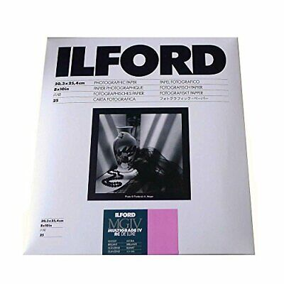 Ilford Multigrade IV RC Deluxe 8 x 10, 25 Gloss Paper sheets