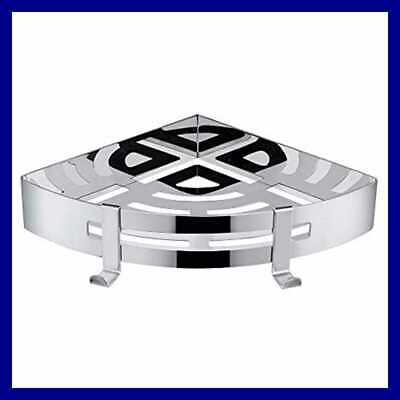 Bathroom Shower Corner Shelf Stainless Steel Triangle Wall Self Adhesive No Dama