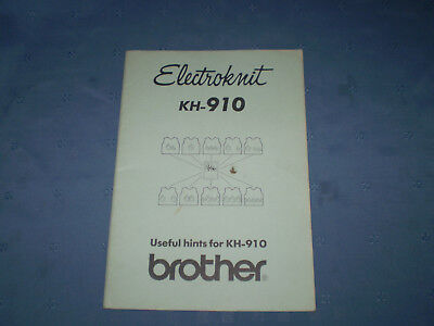 electroknit kh910 useful hints for kh910 brother, machine knitting, paperback