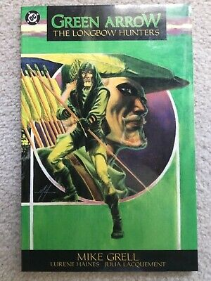 Green Arrow The Longbow Hunters TPB 1989 Out of Print Mike Grell Masterpiece! VF