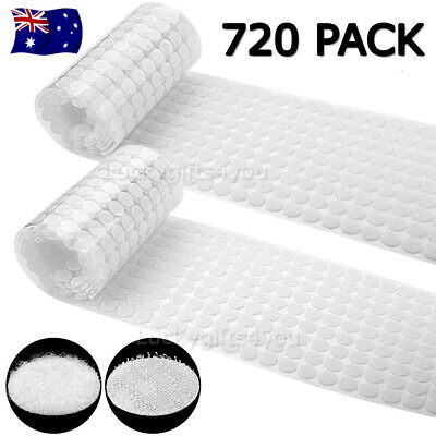 720 Pack Hook and Loop Sticky Self Adhesive Dots Coins Circles Tape 15mm OZ