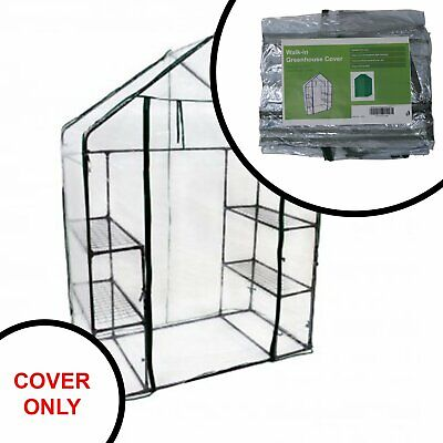 Replacement Spare PVC Cover for 3-Tier 4 Shelf Mini Walk-in Garden Greenhouse