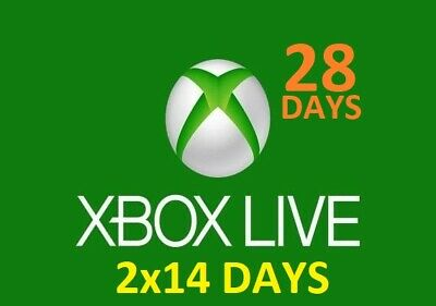 Xbox live gold 1 month (2x 14 day gold trial keys) WORLDWIDE FAST DELIVERY