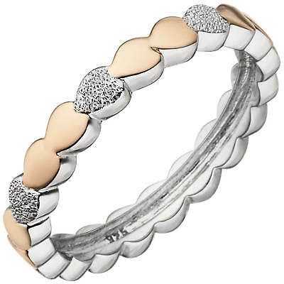 Jewelry & Watches Donna Argento Sterling 925 Placcato Rodio Oro Centrale Staccabile Stelo Anello Precious Metal Without Stones