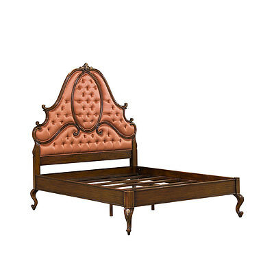 French Queen size bed headboard, rails and footboard in mahogany