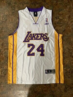 79f22f67590 Kobe Bryant #24 Los Angeles Lakers White Basketball Jersey Men. Authentic  Stitch