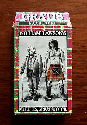 William Lawson's No Rules, Great Scotch Vintage Playing Cards.