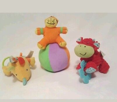 Beanstalk Chime Ball Roll Around Baby Toy + Fehn & ELC Baby Shakers