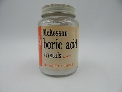 Vintage McKesson Boric Acid Medicine Bottle 4oz