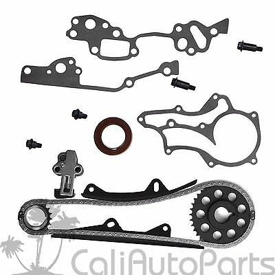 TIMING CHAIN KIT with Gasket Set Fits 85-95 Toyota 2 4L 22R 22RE