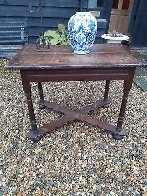 Period Oak Centre Table Side Table Early 17th Century