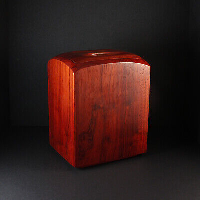 Padauk wood cremation urn for ashes - hand-crafted - Everlasting Tree - USA