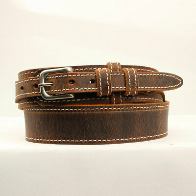 Nocona Men's Jacksonville Brown Leather Belt Made In The USA N2301044