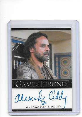 Game of Thrones Season 5 Alexander Siddig as Doran Martell Bordered Auto