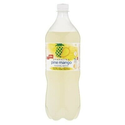Coles Pine Mango Flavoured Sparkling Mineral Water 1.25L