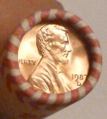 1987D Lincoln Memorial Cent Uncirculated Original Penny Sealed Rolls
