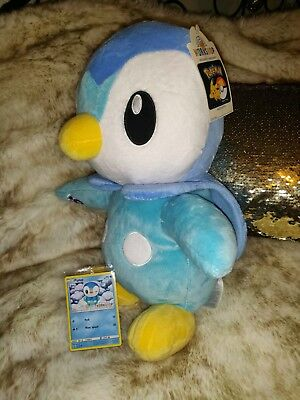 New Build A Bear workshop stuffed Pokemon Piplup Penguin with card limited