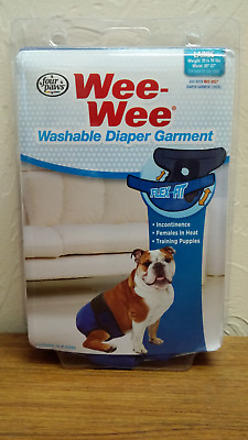 Wee-Wee Diaper Garment - Four Paws - Large New