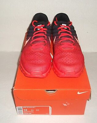 New Nike Air Max 2017 Running Shoes, Multi Size, Black/Crimson, 849559-600