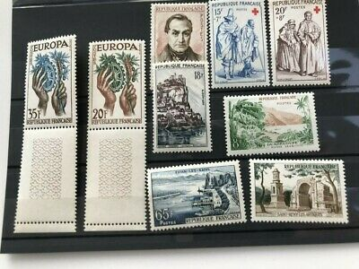 France, 1957, 9 MNH stamps perfect CV $15