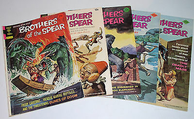 Brothers Of The Spear #2  #8  #9  #10  #16 Five (5) Bronze Age Issues