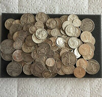 1/2 Ounce Lot-U CHOOSE TYPE COINS90% U.S.Silver coin 1964/older NO SCULLS 1/2Oz#