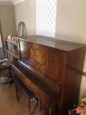 Antique Upright Pianola/Piano
