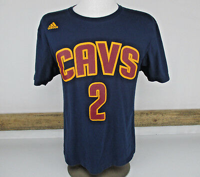 meet 3caad 8f6ef Adidas NBA Cavaliers 2 Irving Navy Player Number T-Shirt Large Cavs  Basketball