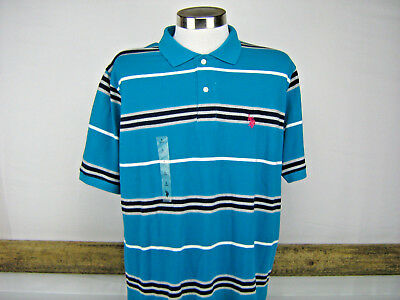 US Polo Assn. Men's Short Sleeve Collared Striped Shirt Size Large NWT