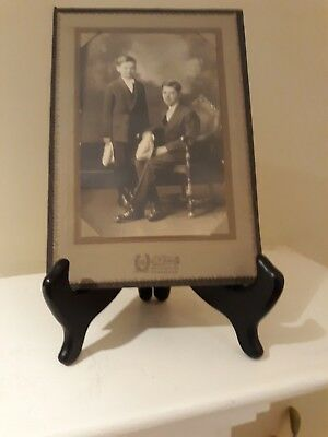 Antique Professional Photograph late 1800's/Early 1900's Of Two Young Boys