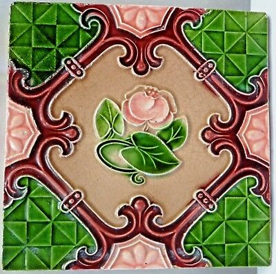Tile Majolica Art Nouveau Porcelain Ceramic Japan Architecture Collectibles #71