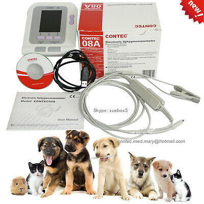 FDA Vet Veterinary digital Blood Pressure&Heart Beat Monitor NIBP CONTEC08A OLED