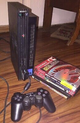 Sony PlayStation 2 PS2 Fat Console Bundle And 4 Games FREE SHIPPING
