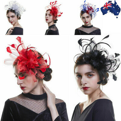 Women Fascinator Cocktail Party Hat Headband Wedding Church Kentucky Derby